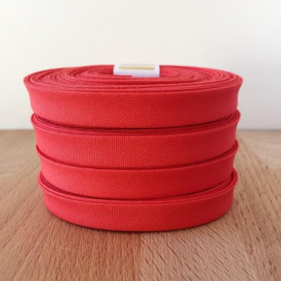 "Bias Tape in Kona Coral cotton 1/2"" double-fold binding- watermelon red pink- 3 yard roll"