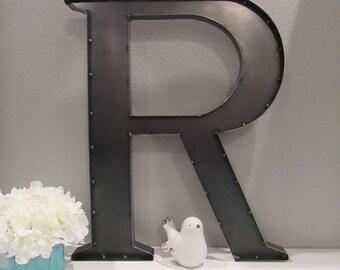Large Metal Letter R Large Metal Letter R  Etsy