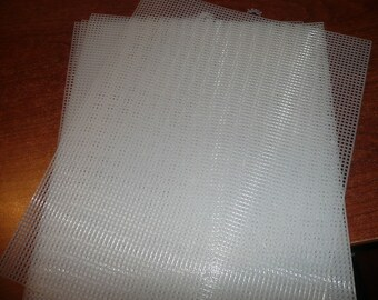 5 D Sign R Clear 7 Count Plastic Canvas Mesh Sheets