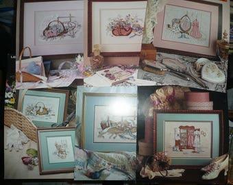 16 Leisure Arts Paula Vaughan Cross Stitch Pattern Leaflets