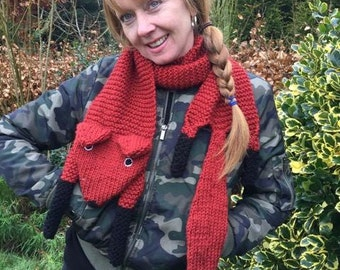 Foxy Friends Hand Knitted Scarf