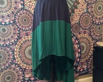High-Low Skirt, Beach skirt, Breezy skirt, Boho skirt, Festival skirt