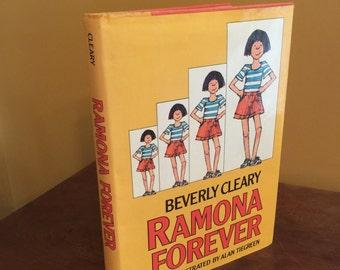 Vintage Hardback Ramona Forever by Beverly Cleary/Vintage Beverly Cleary/Ramona Books/Harcover Ramona Forever