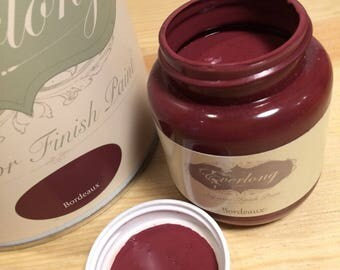 Burgundy chalk paint for furniture - Everlong superior chalk paint in Bordeux - paint your own furniture