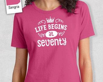 70th Birthday, 70th Birthday Idea, Great 70th Birthday Present, 70th Birthday Gift. 1948 Birthday, 70th Birthday Shirt, Women's Crew Neck!