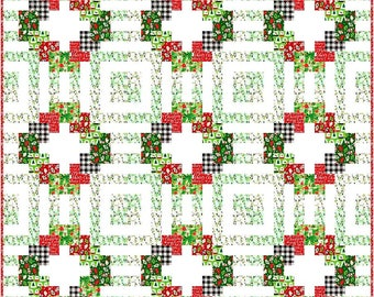 """SALE!! Welcome Wreath Quilt Pattern a Kelli Fanin Quilt Design using Comfort and Joy - Finished Size 72"""" x 72"""""""