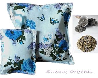 "Lavender & Hops Herbal Pillow Deep Sleep Aid Dream Pillow Cotton 7"" x 7"" With Lavender Bag"