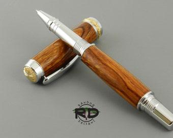 Desert Ironwood Pen - Chrome Rollerball Pen, Triton Pen