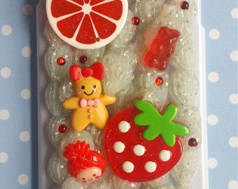 Strawberry Red Sweets Decoden Phone Case iPhone 6 Plus