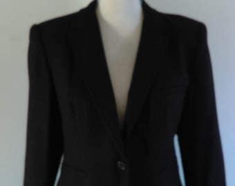 Vintage Evan Picone Black Wool Suit.
