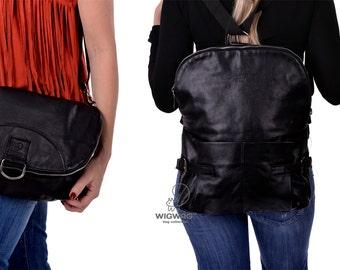 SALE 20% OFF!!! Womens bag, convertible messenger,womens backpack, crossbody bag, genuine leather women's bag, leather backpack, bag