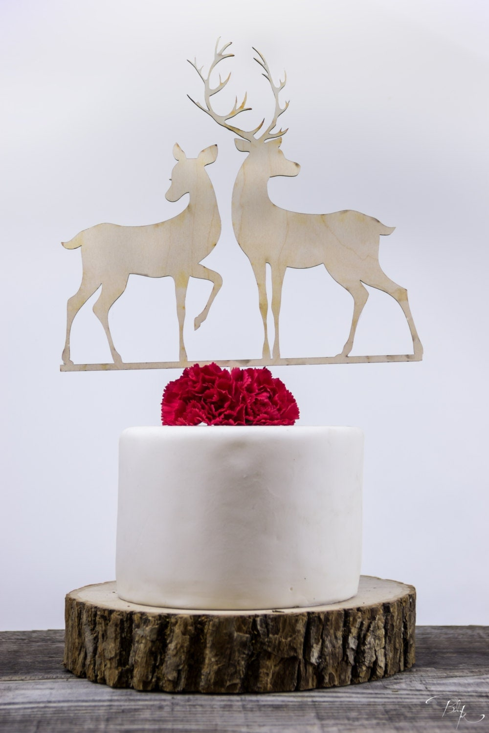 Deer Couple Wedding Cake Topper Woodland Animals Rustic Toppers