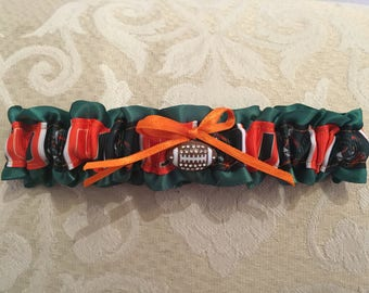Miami Hurricanes wedding garter