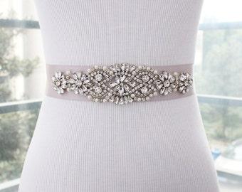 Bridal Sash Belt, Bridal Belt, Wedding Belt, Wedding Sash, Rhinestone Wedding Sash Belt, Crystal Bridal Belt, Beaded Bridal Sash Belt