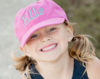 Personalized Hot Pink Kids Baseball Cap - Monogram Hat - Kids Hats - Kid Monogrammed Hat - Girl Baseball Hat - Monogrammed Hats for Girl