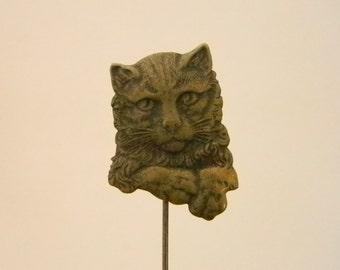 Copper Look Cat Feline Stick Pin Brooch