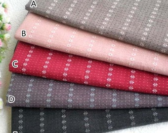 Yarn-dyed,Cotton Linen Fabric for craft, diy fabric,1/2 yard -CJ