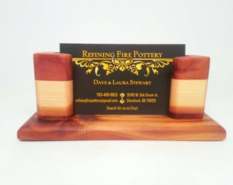 Wooden Business Card Holder, Cedar Business Card Holder,