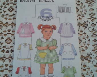 Butterick Sew Six Easy Dress Pattern Spring Dress Size 1-4 FF