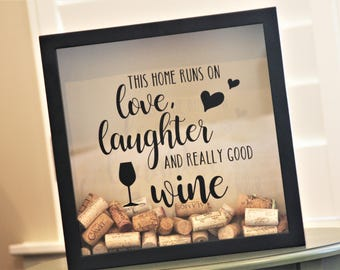 Wine Cork Holder Shadow Box, Cork Holder, Wine Shadow Box, Gifts for Wine Lovers