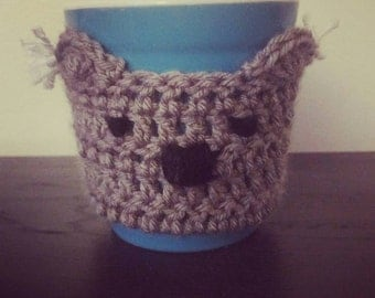 Crochet Koala Coffee Cozy