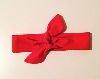Headband to tie handmade red special Noel