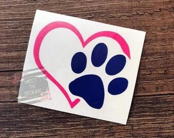 Dog Car Decals Etsy - Custom car magnets paw print