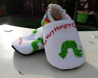 Caterpillar baby shoes, hungry caterpillar party, hungry caterpillar baby, hungry caterpillar shoes, non slip baby shoes, first baby outfit