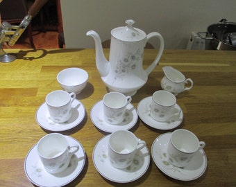 mayfair fine bone china coffee set , coffee pot , retro coffee pot , afternoon tea, ref6