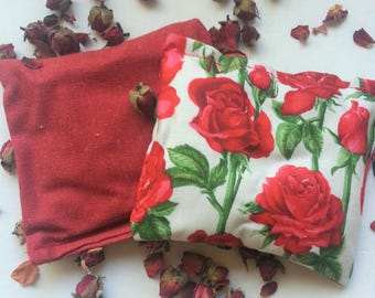 Rose petal scented sachets (pack of 2) - Aromatherapy pillows, Home fragrances - drawer sachet  - wardrobe freshener