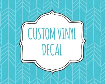 Custom Vinyl Decal Etsy - Custom vinyl stickers australia the advantages