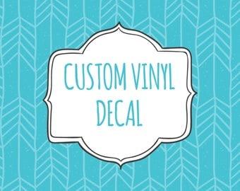 Custom Vinyl Decal Etsy - Custom vinyl decals for laptop