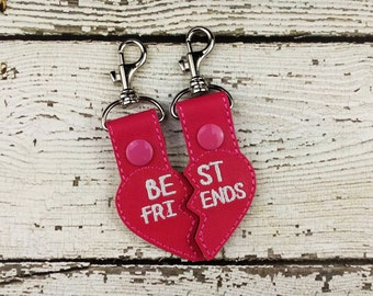Best Friends Keychain