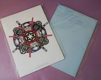 Star Wars Mandala A5 Print