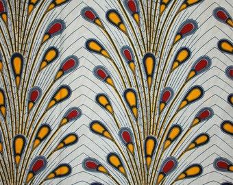 African print fabric sold by yard/ Ankara fabric/ Electric bulb ankara/ African Supplies for dress skirt/ White African fabric/ dutch wax