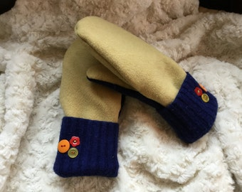 Handmade Recycled Wool Sweater Mittens