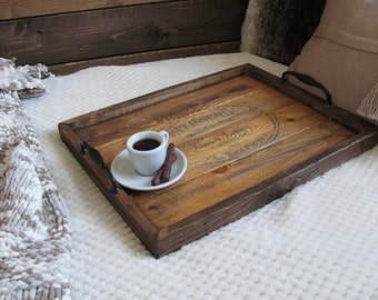 Stamped serving tray