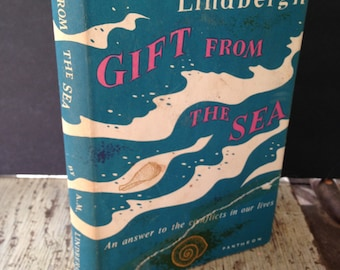Gift from the Sea Ann Morrow Lindgergh Vintage Book with Dust Jacket 1959