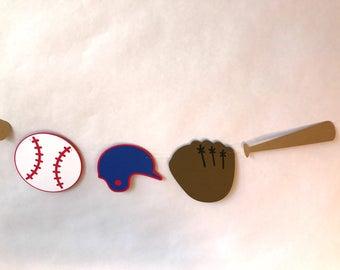 Baseball Garland - baseball decor - sports theme - party supplies