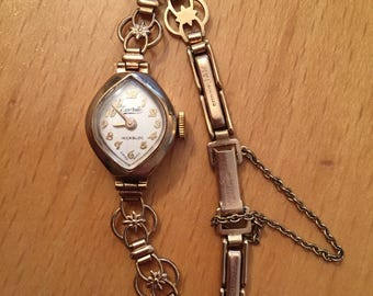 9ct gold Antique Everite Incabloc swiss made wrist watch.