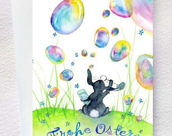 Easter soap bubbles - Easter greeting card