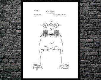 binoculars Print, binoculars Poster, binoculars Patent, binoculars Decor, binoculars Art, binoculars Blueprint, binoculars Wall Art