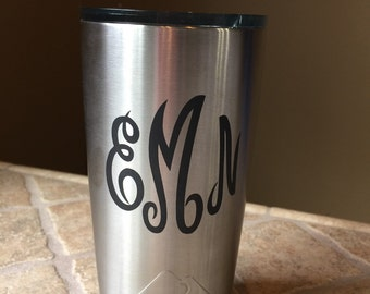 Personalized  Laser Engraved Stainless Steel Tumbler 20oz by Ozark Trail, Valentines Day Gift