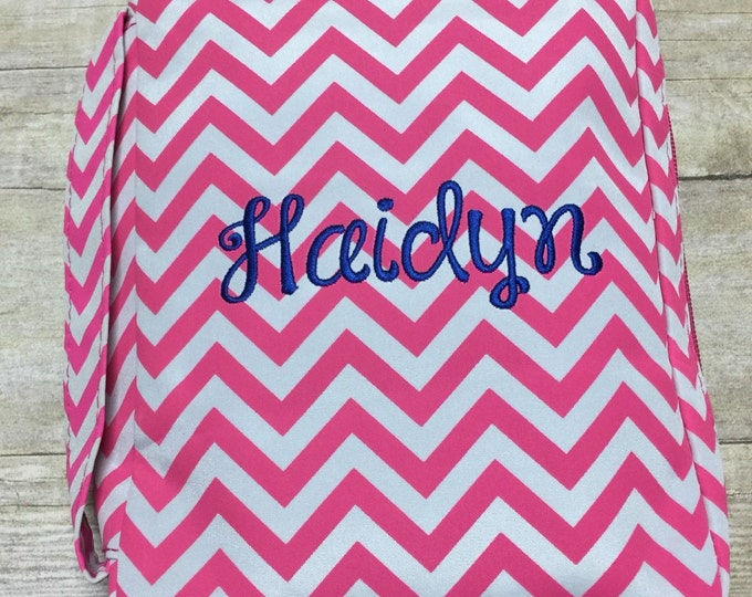 Featured listing image: Personalized Chevron Bible Cover , Monogram Canvas Bible Case, Embroidered Bible Cover, Personalized Bible Case