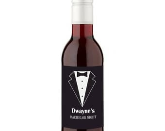 12 Personalised Bachelor Party Wines - 187ml