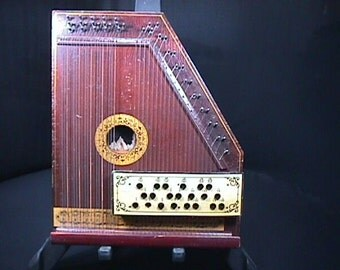 Antique Oscar Schmidt Auto Harp- Zither Ready to Play as-is