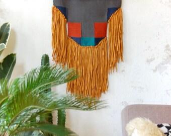 The Beast Weaving   Handwoven Wall Hanging   Tissage Mural   Handmade Tapestry   Wandbehang