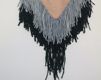 Tricolore Boho Handwoven Tapestry | Wandbehang | Weaving | Tissage Mural