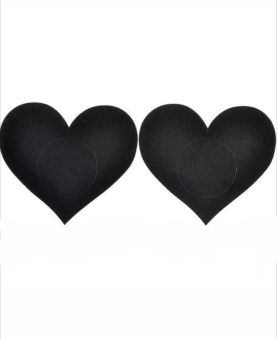 Small Heart Pasties Heart Nipple Pasties Black Nipple-5709