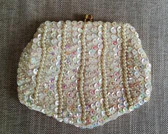 Vintage Sequin Evening Bag